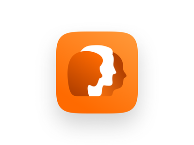 Meetings iOS Icon video saas voip unfold logo branding ai human people iphone android icon woman man conference discussion chat group chat group meetings