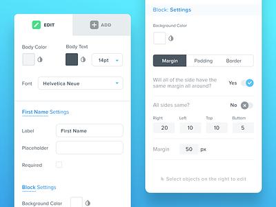 Kizen Edit Tab droplr drag editor builder form builder crm webapp label buttons options fields form app edit