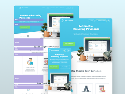 PJ Responsive paper terminal processing payment unfold page features ux ds padding guildes mobile design website responsive