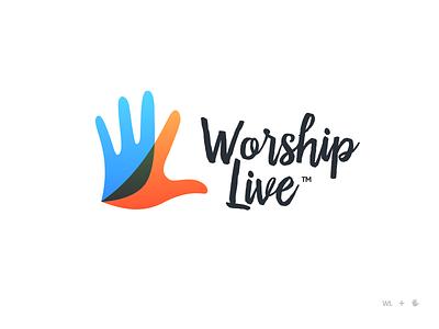 WorshipLive Logo bird dove wl convention conference songwriter singing praise christian faith worship logo