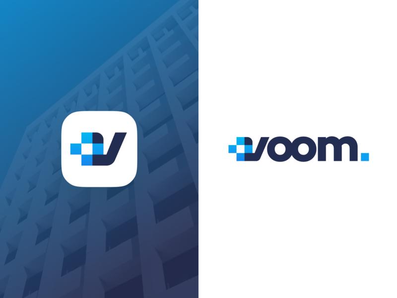 Voom Logo branding design belfast voom supplies health devices medical design unfold branding logo