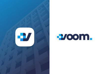 Voom Logo branding design belfast voom supplies health devices medical design unfold branding logo