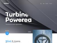 Turbine powered large