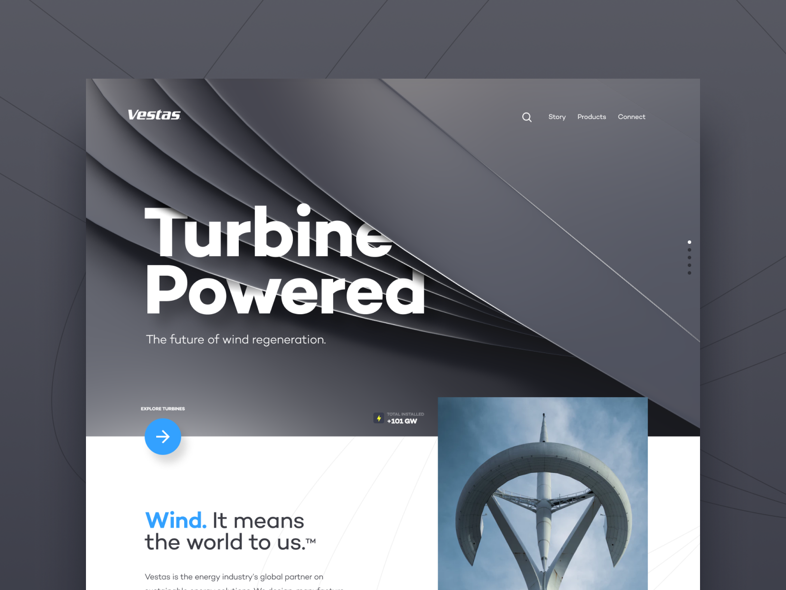 Turbine powered