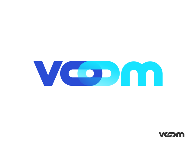 Voom Logo devices medical chain link unfold brand agency branding brand design logo voom