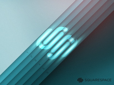 SS6 (Playoff) squarespace6 squarespace blue glow layers paper texture dribbble playoff design graphic illustration logo mark art