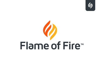Flame of Fire ministry christian agency branding agency f logo branding flame logo fire flame