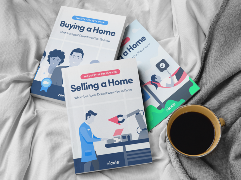 Nickle Book Covers illustration branding design book agency unfold realestate buying selling illustrations logo brand nickle