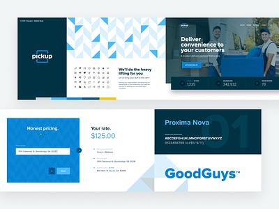 Pickup StyleScape v1 illustrations icons form pattern typography logo ux ui branding brand webdesign exploration web website pickup