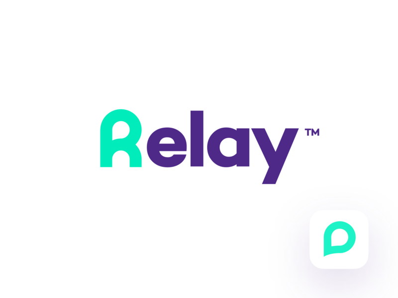 Relay Chat unfold communication connect letter r logo branding chat relay