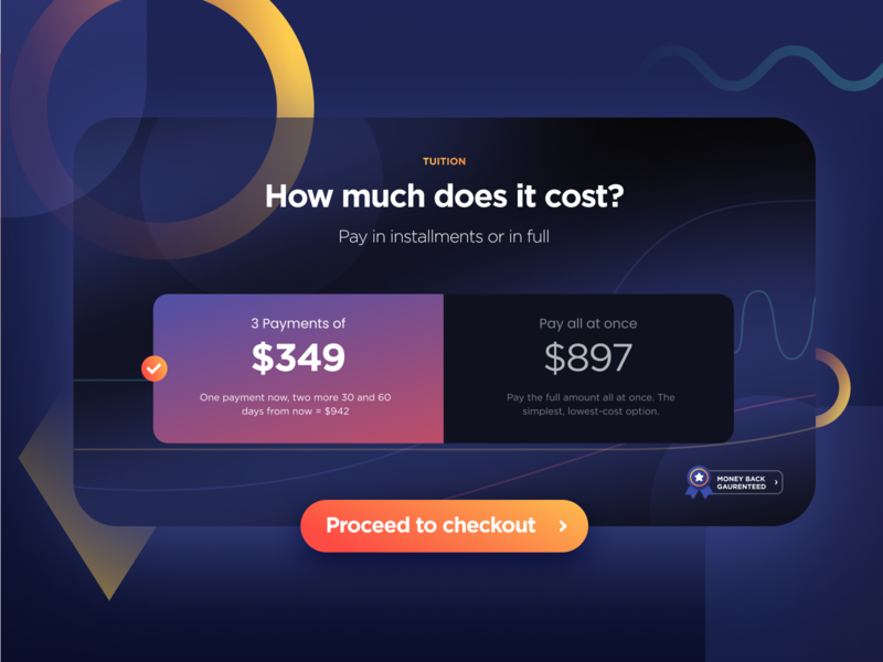Price Options process checkout selector toggle switch toggle price elements illustrator ui uiux website builder website