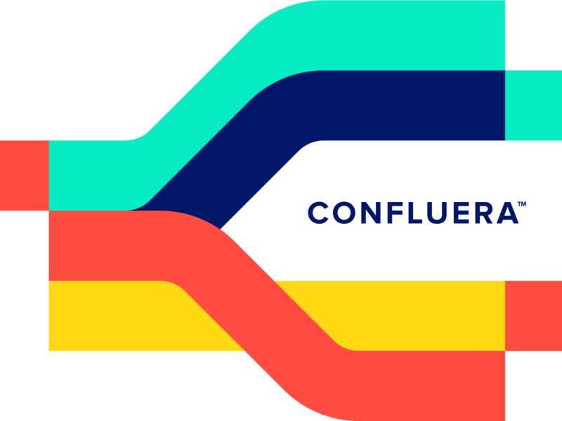 Confluera Brand branding paths cybersecurity cyber data tech unfold team marketing agency marketing billboard logo brand