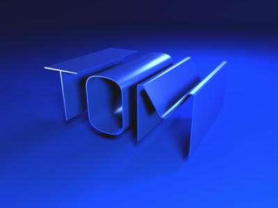 Tom 3D render lights agency design typeography text model vectary 3d