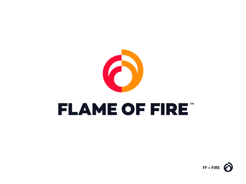 Flame of Fire Concept branding agency unfold ministry christian logos branding fire flame logo ff