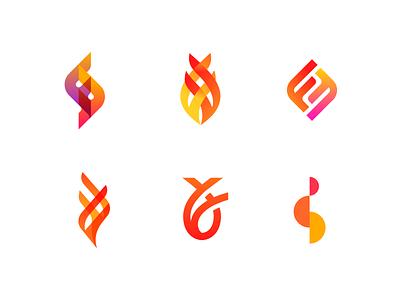 FF Logos christian fish flame fire ff branding logos
