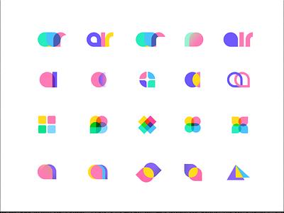 air bubble unfold communication colorful gum bubble branding logo