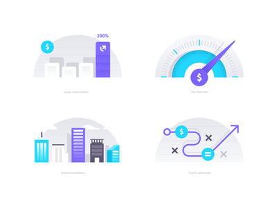 Up Illustrations unfold agency design football game plan chart graph speedometer buildings loan bank business funding lending illustrations