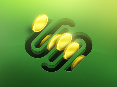 SS Bank squarespace commerce ss illustration icon coin money shopping ecommerce s green yellow gold pig bank slot insert contest logo photoshop