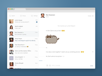 Telegram Web Version Redesign Concept