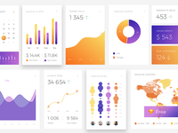 CRM Dashboard UI KIT Freebies