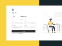Sign Up Screen UI onboarding figma uidesign sign in signup