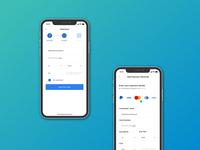 Payment Screens ui mobile design user interface forms mockup finance app mobile app design mobile ui design figma ui design