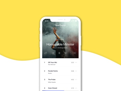 Music Screen UI mobile app design ui uxdesign ux music app uidesign mockup mobile design design figma