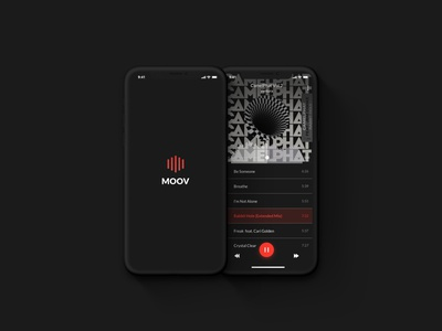MOOV - sound experience behance project sound music app ux design uxdesign ux  ui uxui ux behance uiux ui music mobile logo illustration design branding app animation