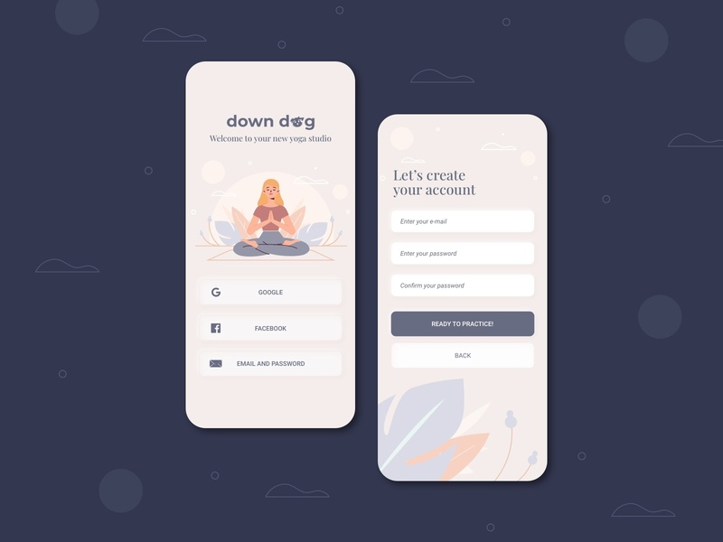 Sign Up Form - Daily UI 001 app wellness yoga app yoga downdogapp dailyui001 dailyui dailyuichallenge userexperiencedesign design mobile app design mobile ui interfacedesign ui