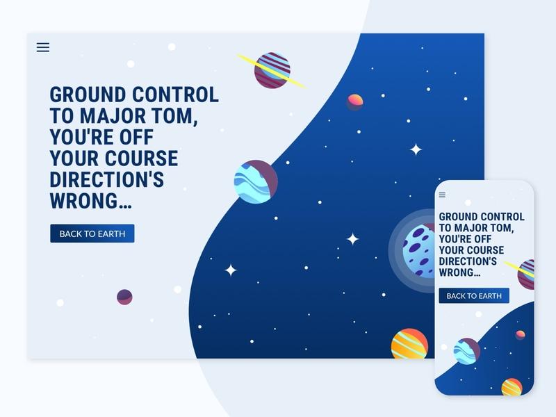 404 Page - Daily UI 008 responsive design error page dailyui008 digital webdesign interfacedesign userexperiencedesign ui design dailyuichallenge dailyui