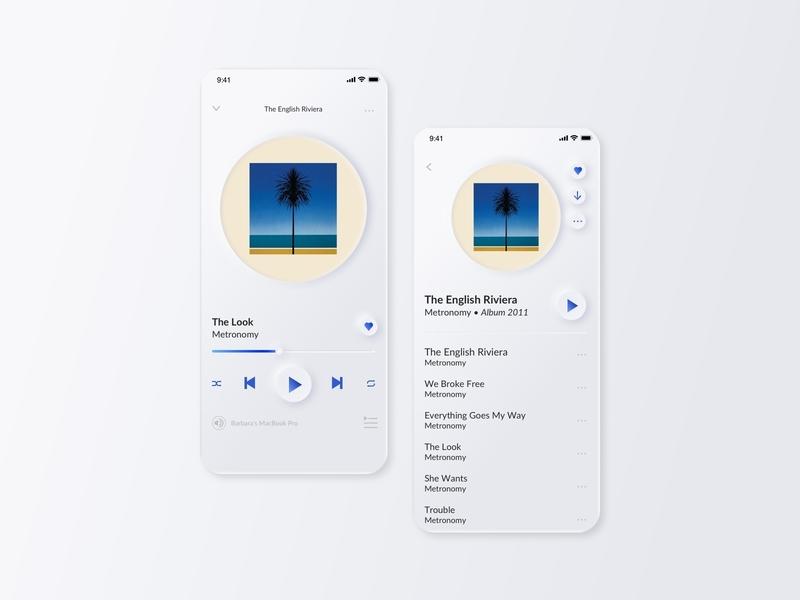 Music Player - Daily UI 009 designer userexperience mobile app dailyui009 webdesign mobile app design mobile ui app interfacedesign userexperiencedesign ui design dailyuichallenge dailyui