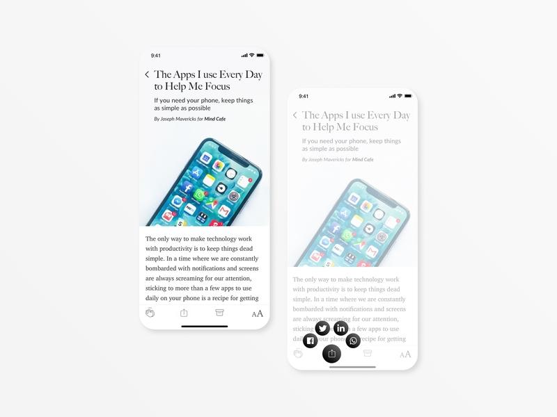 Social Share - Daily UI 010 webdesigner mediumapp digital webdesign mobile app design mobile ui app interfacedesign dailyui010 userexperiencedesign ui design dailyuichallenge dailyui