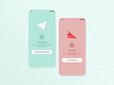 Flash Message - Daily UI 011 success message error message flash message webdesign mobile ui mobile app design interfacedesign app design userexperiencedesign ui dailyui011 dailyuichallenge dailyui