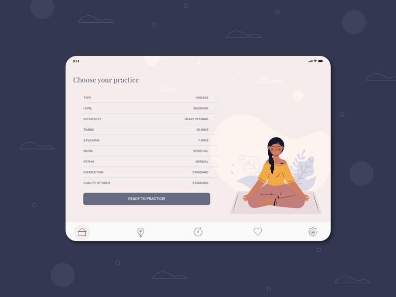 Settings - Daily UI 007 downdogapp yoga wellness ipadapp yoga app digital webdesign app ui design interfacedesign userexperiencedesign dailyui007 dailyuichallenge dailyui