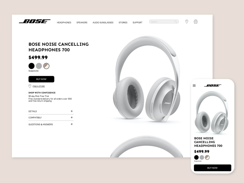 E-Commerce Shop - Daily UI 012 digital single item bose ecommerce webdesign design ui interfacedesign dailyui012 userexperiencedesign dailyuichallenge dailyui