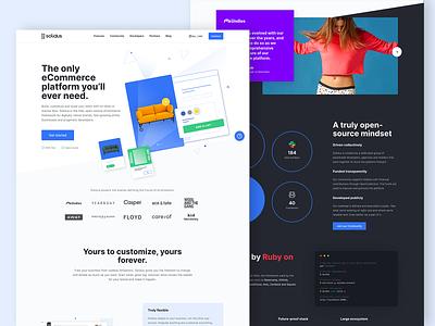 Homepage - Solidus ecommerce product page product design platform website web ux ui web design landing page