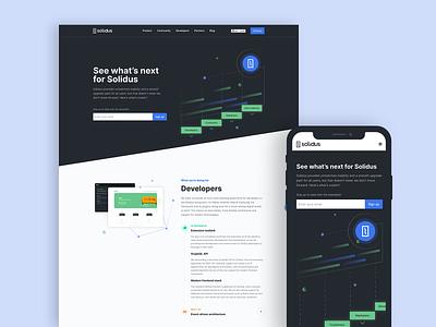 Roadmap - Solidus websites product design platform ecommerce landing page website web ux ui web design