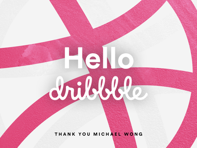 Hello Dribbble! dribbble thanks debut hello