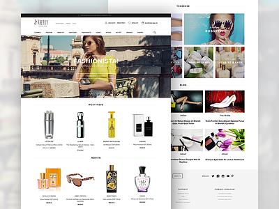 Xberry Beauty Shop store home shop web design ux ui ecommerce