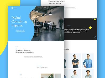 Nebulab website landing page team nebulab web design ui ux redesign website agency