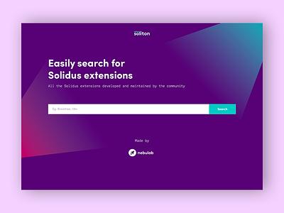 Soliton Website web ui ux web design landing page mockup search