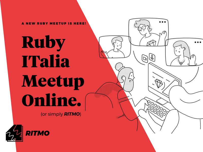 Ritmo - Postcard postcard meetup ruby branding