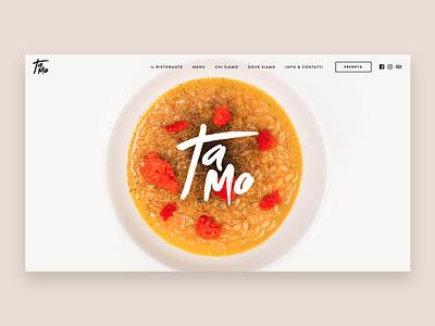 Tamo Ristorante - Website web web design branding restaurant website