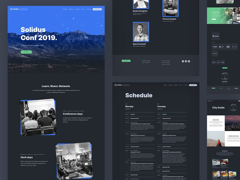 SolidusConf 2019 Website web design conference website ux ui web design