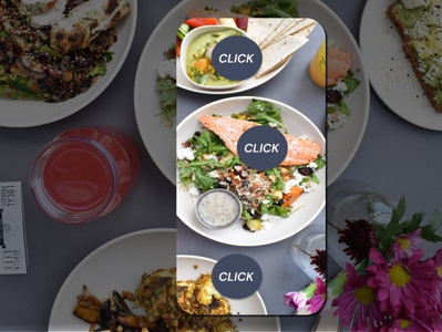 Augmented reality - Put camera and see recipe for each meal