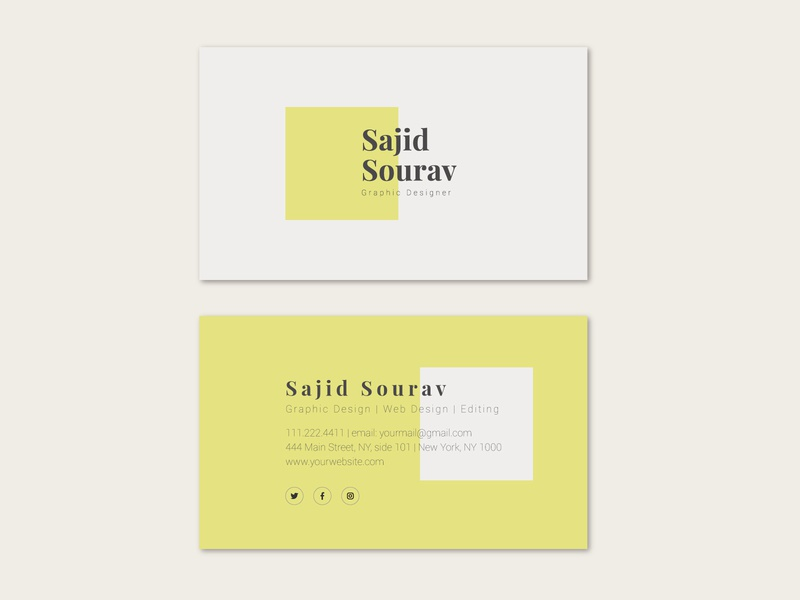 Minimal business card vector illustration illustrator branding art flat business cards business businesscard business card design business card minimal design