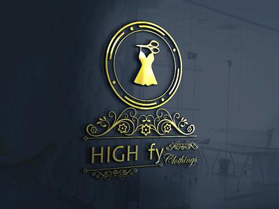 High-fy Logo mock-up logo