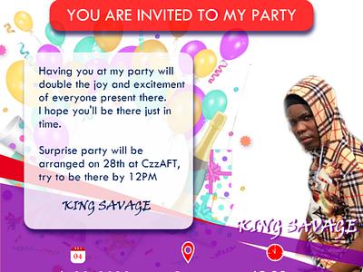 I.v design e-poster i.v invitation card