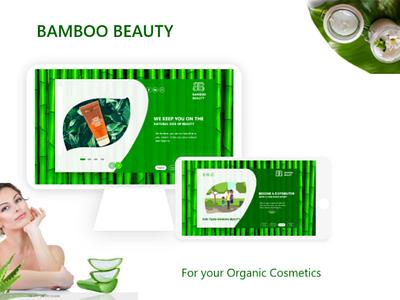 Bamboo beauty ui desktop and tablet mock up cosmetic ui ui design