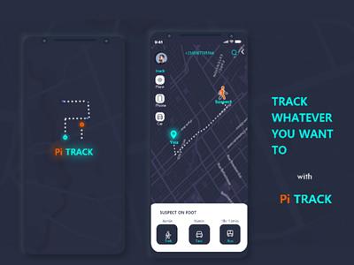 Pi track ui ui mock up trackng user interface app mockup tracking app